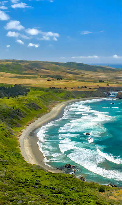 This jaw-dropping stretch of California's famed Highway 1 is near Hearst Castle in San Luis Obispo County.