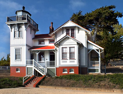 Point San Luis Lighthouse was built in 1889 after the Queen of the Pacific ran aground