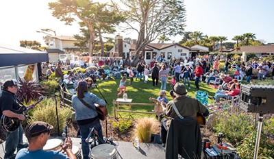 Free music at Beer on the Pier every Monday after Farmers Market every Monday