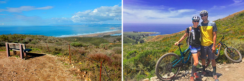 mountain biking, hiking, horseback riding on uncrowded trails in central california