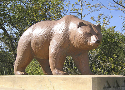Welcoming locals and visitors to Los Osos are the iconic Bridge Bear sculptures