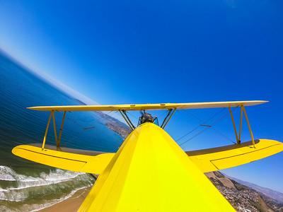 Boeing Stearman biplane tour over Pismo Beach