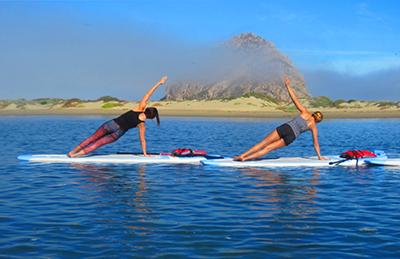 Standup Paddle Board Yoga on Morro Bay